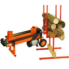Heavy Duty 8Ton HYDRAULIC ELECTRIC LOG SPLITTER & BULK SAW HORSE MULTI HOLDER