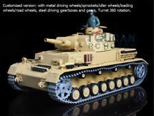 Us Stock 1/16 HengLong Panzer Iv 3858 Customised Metal Wheels Tracks Rc Tank