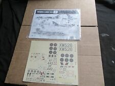 MODEL DECAL NO.26 HUNTER / BUCCANEER / CANBERRA & GAZELLE (1:72 SCALE) NEW