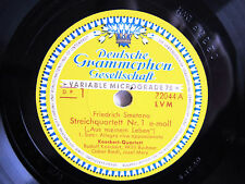 2x 78rpm KOECKERT QUARTET plays SMETANA From My Life - DEUTSCHE GRAMMOPHON