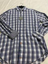 Thomas Dean Long-Sleeved Shirt - Blue & Gray - M - NWT