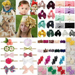 Baby Bow Headband Girl Infant Toddler Newborn Soft Knot Turban Hair Head Wrap **