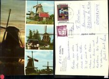 431048,Mehrbild Ak Molens Dutch windmills Windmühle Boot