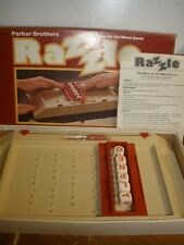 VINTAGE 1981 PARKER BROTHERS RAZZLE RACE FOR THE WORD 100% COMPLETE