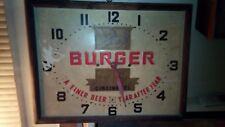 Burger Beer Clock Rare