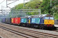 Class 57 57009 & 57010 6x4 Quality British Rail Photo