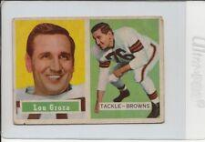 1957 Topps Football #28 Lou Groza Browns Vg