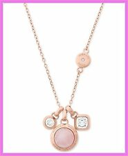 NWT Michael Kors Rose Gold Crystal & Stone Necklace & Earring Set Authentic