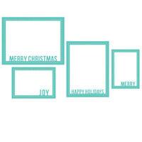 Merry Christmas Frame Metal Cutting Dies Stencil Handcrafts Paper Card Decor