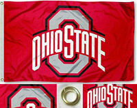 NEW Ohio State Buckeyes Red Flag Large 3'X5' NCAA FREE SHIPPING