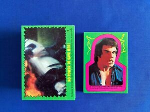 1979 Topps Incredible Hulk TV Show Complete (88) Trading Card (22) Sticker Set