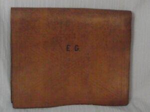 Porte document ouverture porte feuille de notaire en cuir naturel cousu main