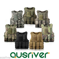 Adjustable Military SWAT Airsoft Molle Hunting Paintball Carrier Tactical Vest