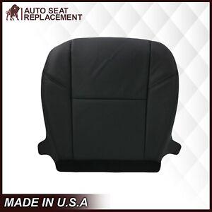 2007-2014 Cadillac Escalade Driver Bottom Leather Seat cover Ebony Black #194