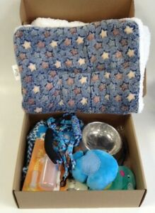 Puppy Starter Kit Dog Accessories Essential Pack Blanket Food Bowls Toys Harness