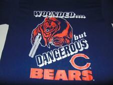 """90's Chicago Bears """"Wounded, but Dangerous"""" fits like adult medium - very good"""