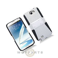 Samsung N7100 Note 2 Hybrid Mesh Case with Stand White Case Cover Shell Guard