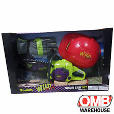 Poulan 581506801 Wild Thing Toy Chainsaw Set with Helmet and Gloves