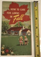 VG 1940's Swift & Co. How to care For Lawns In Fall Brochure