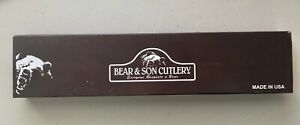 Orig. $289 Bear & Son Fixed Blade Knife New Damascus Bowie 501D