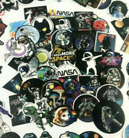 50pc Random Funny NASA Alien Spacecraft Wall Phone Decal Science Sticker Pack