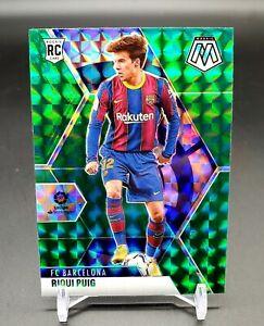 2020-21 Panini Mosaic La Liga Green Prizm #59 Riqui Puig Barcelona SP RC Rookie