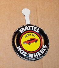 HOT WHEELS Mattel Vintage Redline CUSTOM AMX Tin Button Badge NICE
