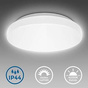 Plafoniera LED da bagno 12W, luce bianca naturale 4000K, integrati...