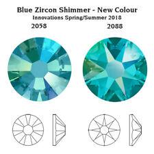 Swarovski BLUE ZIRCON SHIMMER Crystals Glue On Flatbacks - SS5-SS30 Rhinestones