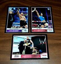 2014 Topps WWE Road Wrestlemania Brock Lesnar Black Parallel Insert Card #107