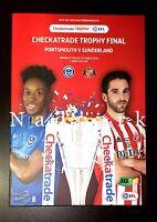 Portsmouth v Sunderland Checkatrade Trophy Final March 2019 Programme 31/3/19