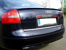 Audi A6 S6 RS6 C5 Euro Rear Trunk Boot Spoiler Lip Wing Sport Trim Lid S Line -
