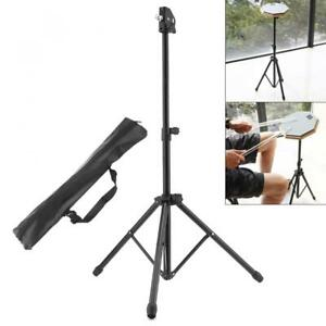 Full Metal Foldable Floor Drum Stand Holder with Carry Bag for Jazz Snare Dumb