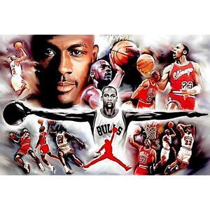 Michael Jordan Chicago Bulls Collage Poster 24 x 36
