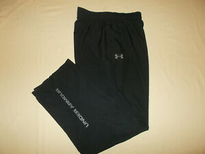 UNDER ARMOUR HEAT GEAR BLACK MESH LINED ATHLETIC PANTS MENS MEDIUM EXCELLENT