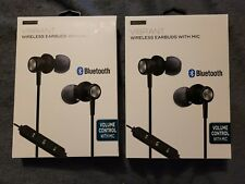 iWORLD Vibrant Wireless Earbuds With Mic...2 Pairs...Brand New...Bluetooth