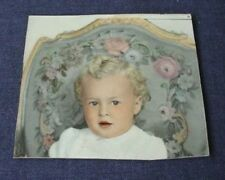 ANTIQUE HAND TINTED BABY CABINET PHOTO