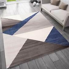 Tappeto Soggiorno, Camera da Letto, Corridoio Tappeto Geometrica Motivo Blu