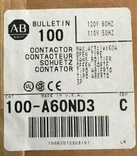 Allen Bradley 100-A60ND3 Ser. C Contactor 120Vdddddddddddddd