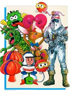 Atari Characters Promo POSTER 1982 Dig Dug Kangaroo Centipede Rare Large Arcade