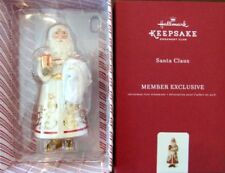 Hallmark 2017 Santa Claus Porcelain KOC Club Exclusive Ornament