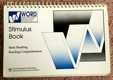'WORD', Wechsler Objective Reading Dimensions, STIMULUS BOOK.