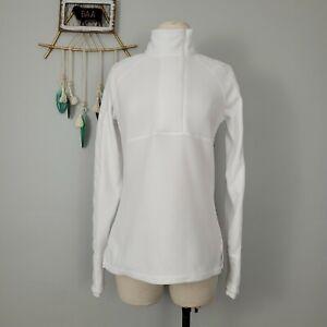 Athleta Vortex Polartec Micro Fleece Half Zip Pullover Sz XS White 138481-06 EUC