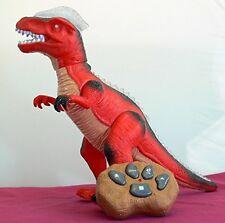 R/C Remote Control Dinosaur, Walks, Roars, Lights Up. Red