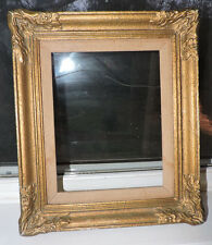 Vintage FRENCH Style Swept GOLD Compo Gesso Picture FRAME 7 1/2 x 9 1/2 c1940s