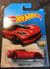 2017 Hot Wheels Super CUSTOM Red Corvette C7  Z06 with Real Riders