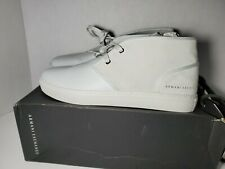 Armani Exchange Men's White Suade Loafer Shoes W/ Laces Size 10 NWT $198