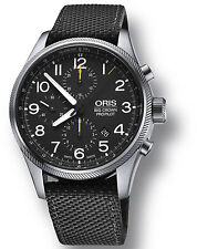 Oris Big Crown Pro Pilot Date Black Dial Mens Fabric Strap Watch 77476994134FS