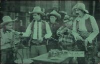 Cowboy Actor Exhibit Card w/ Postcard Back TED WELLS