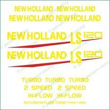 NEW HOLLAND LS 120 Die Cut High Cast Premium Vinyl Decals Stickers Kit Set